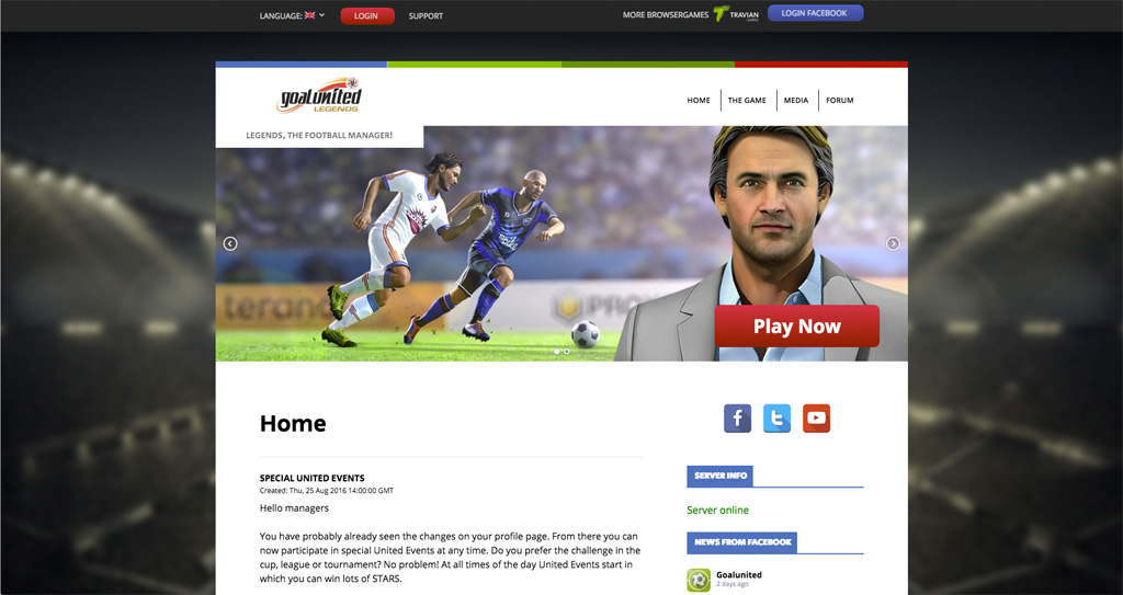 goalunited legends website wordpress